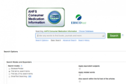 AHFS Consumer Medication Information screenshot