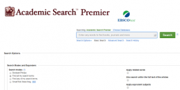 Academic Search Premier screenshot