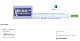 Biography Reference Bank screenshot