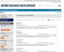 Oxford Research Encyclopedias screenshot